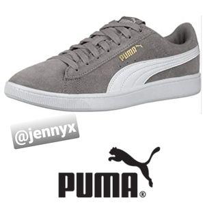 Puma Ladies Vikky Suede Grey Sneakers